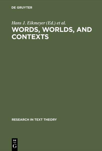 Words, Worlds, and Contexts - Coverbild