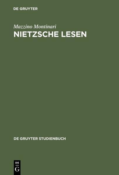 Nietzsche lesen - Coverbild