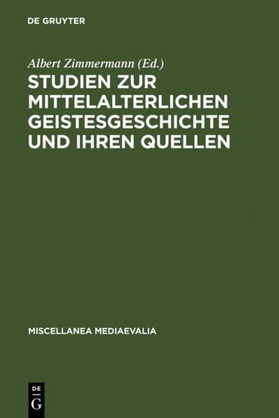 Studien zur mittelalterlichen Geistesgeschichte und ihren Quellen - Coverbild