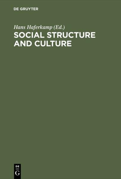 Social Structure and Culture - Coverbild
