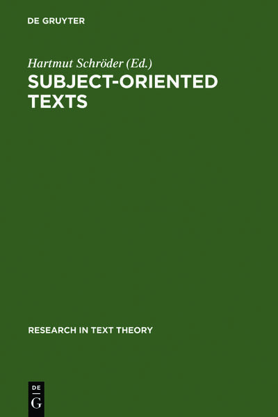 Subject-oriented Texts - Coverbild