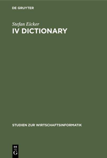 IV Dictionary - Coverbild