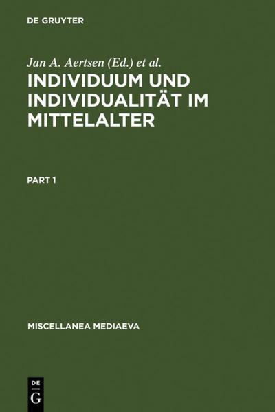 Individuum und Individualität im Mittelalter - Coverbild