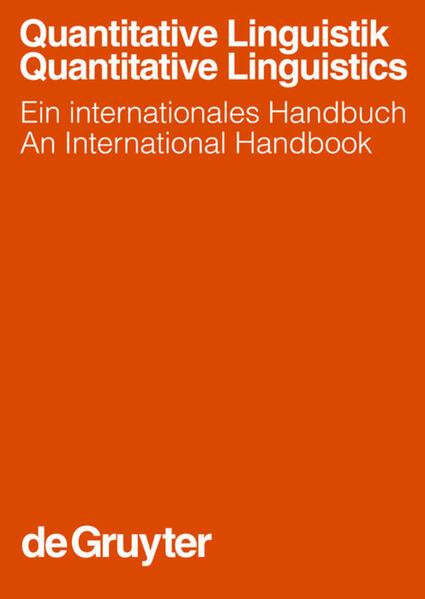 Quantitative Linguistik / Quantitative Linguistics - Coverbild
