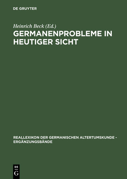Germanenprobleme in heutiger Sicht - Coverbild