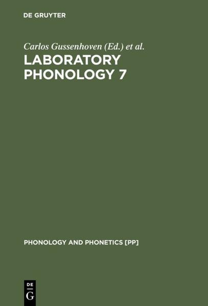 Laboratory Phonology 7 - Coverbild