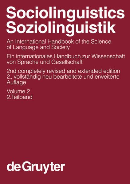Sociolinguistics / Soziolinguistik / Sociolinguistics / Soziolinguistik. Volume 2 - Coverbild