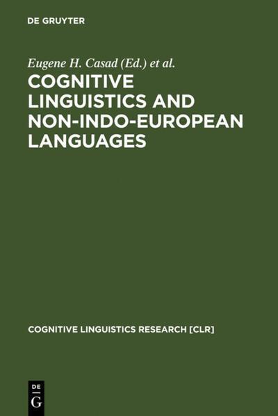 Cognitive Linguistics and Non-Indo-European Languages - Coverbild