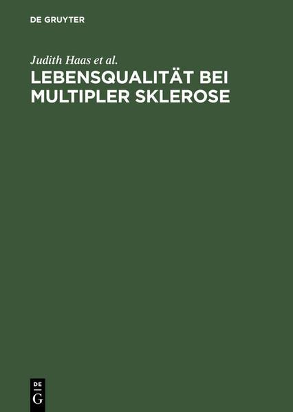 Lebensqualität bei Multipler Sklerose - Coverbild
