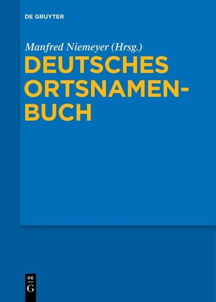Deutsches Ortsnamenbuch - Coverbild