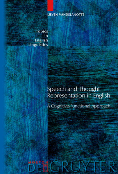 Speech and Thought Representation in English - Coverbild