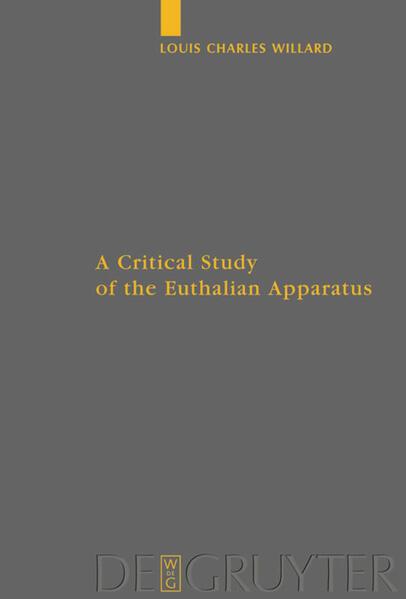 A Critical Study of the Euthalian Apparatus - Coverbild