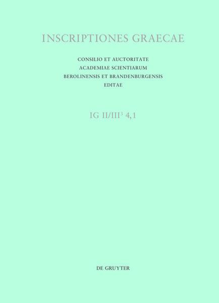 Inscriptiones Graecae. Inscriptiones Atticae Euclidis anno posteriores... / Dedicationes publicae - Coverbild