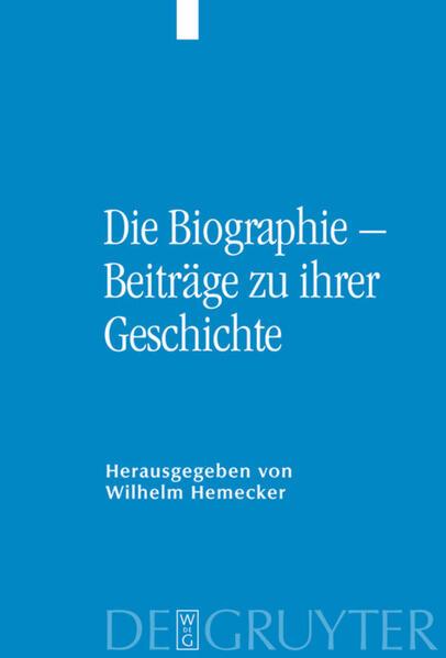 Die Biographie – Beiträge zu ihrer Geschichte - Coverbild
