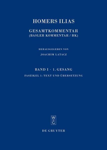 Homerus: Homers Ilias. Erster Gesang (A) / Text und Übersetzung - Coverbild