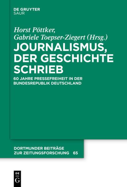Journalismus, der Geschichte schrieb - Coverbild