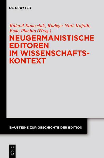 Neugermanistische Editoren im Wissenschaftskontext - Coverbild
