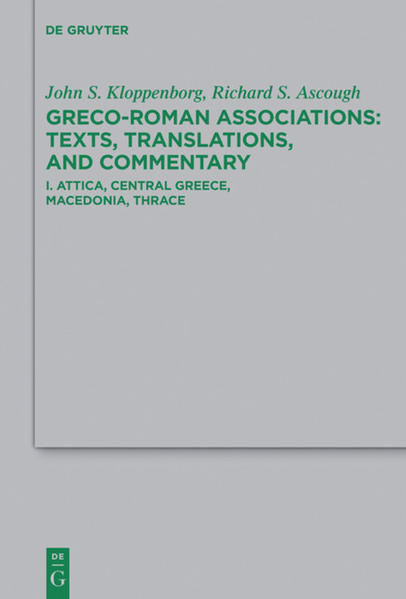 Greco-Roman Associations / Attica, Central Greece, Macedonia, Thrace - Coverbild