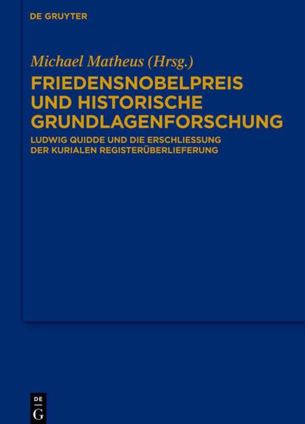 Friedensnobelpreis und historische Grundlagenforschung - Coverbild