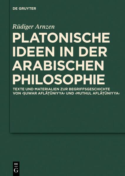 Platonische Ideen in der arabischen Philosophie - Coverbild