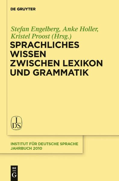 Sprachliches Wissen zwischen Lexikon und Grammatik - Coverbild