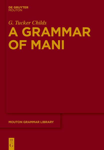A Grammar of Mani - Coverbild