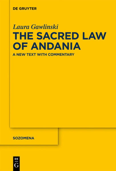 The Sacred Law of Andania - Coverbild