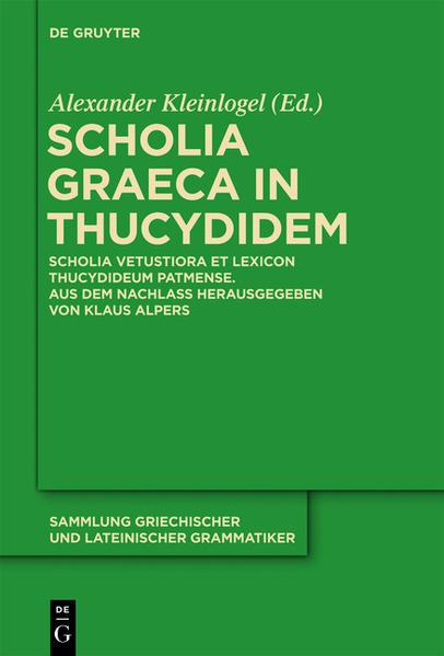 Scholia Graeca in Thucydidem - Coverbild