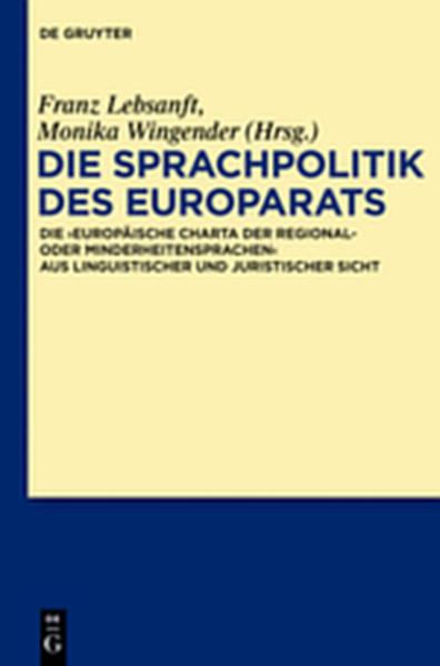 Die Sprachpolitik des Europarats - Coverbild