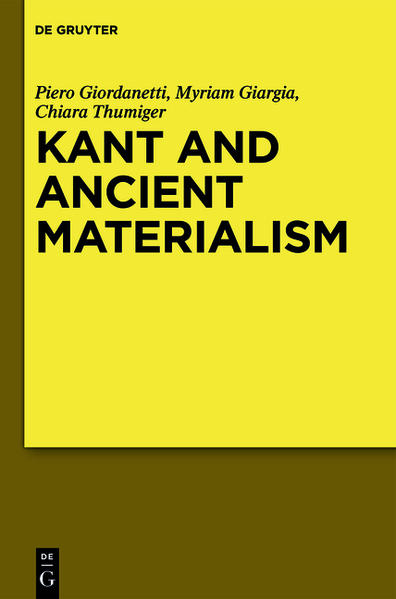 Kant and Ancient Materialism - Coverbild