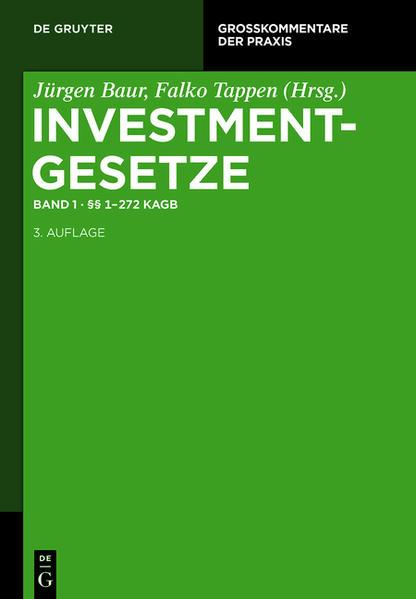 Investmentgesetze / §§ 1 - 272  KAGB - Coverbild