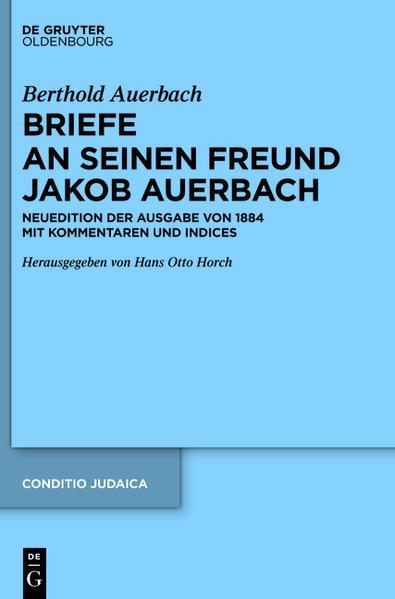 Berthold Auerbach: Briefe an seinen Freund Jakob Auerbach - Coverbild