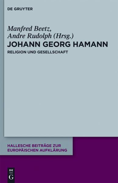 Johann Georg Hamann: Religion und Gesellschaft - Coverbild