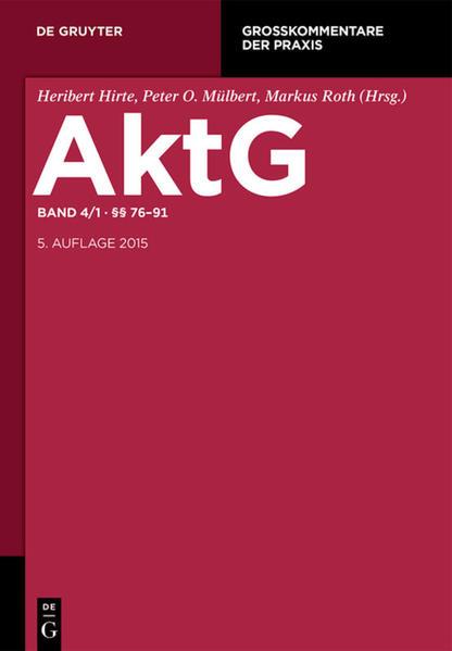 Aktiengesetz / §§ 76-91 - Coverbild