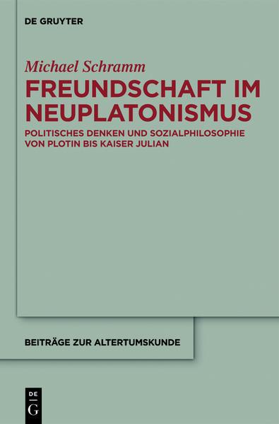 Freundschaft im Neuplatonismus - Coverbild