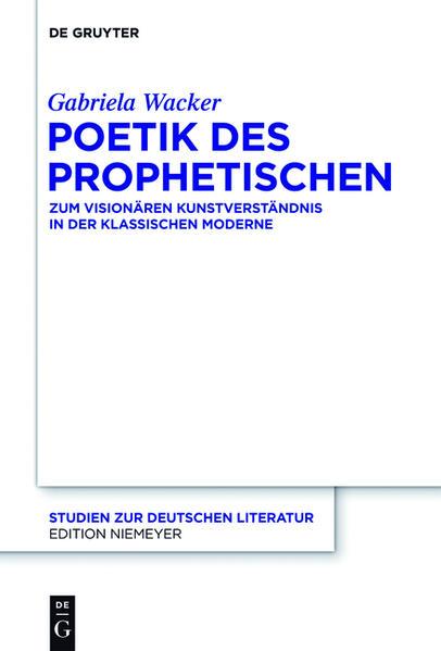 Poetik des Prophetischen - Coverbild