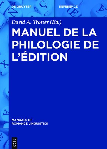 Manuel de la philologie de l'édition - Coverbild