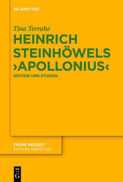 Heinrich Steinhöwels 'Apollonius' - Coverbild