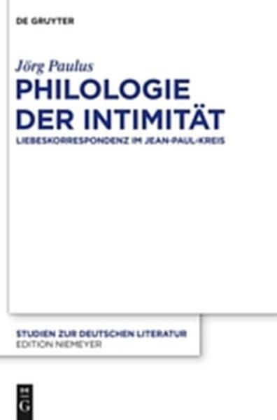 Philologie der Intimität - Coverbild