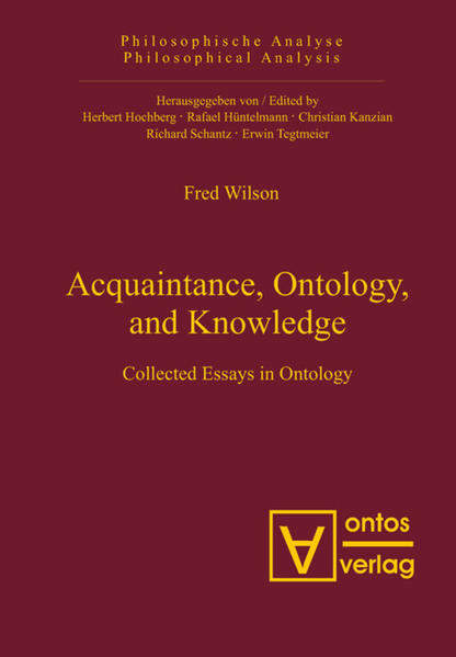 Acquaintance, Ontology, and Knowledge - Coverbild