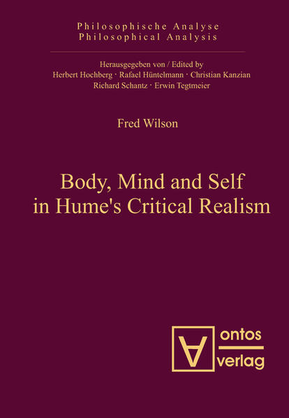 Body, Mind and Self in Hume's Critical Realism - Coverbild