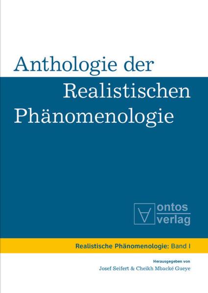 Anthologie der realistischen Phänomenologie - Coverbild