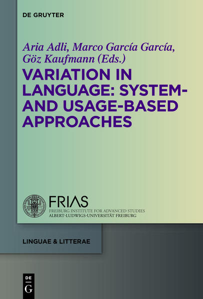 Variation in Language: System- and Usage-based Approaches - Coverbild