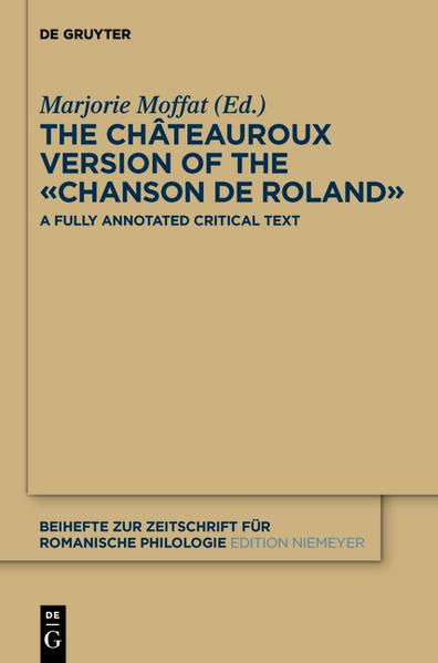 The Châteauroux Version of the «Chanson de Roland» - Coverbild