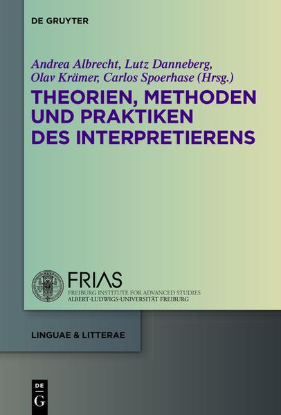 Theorien, Methoden und Praktiken des Interpretierens - Coverbild