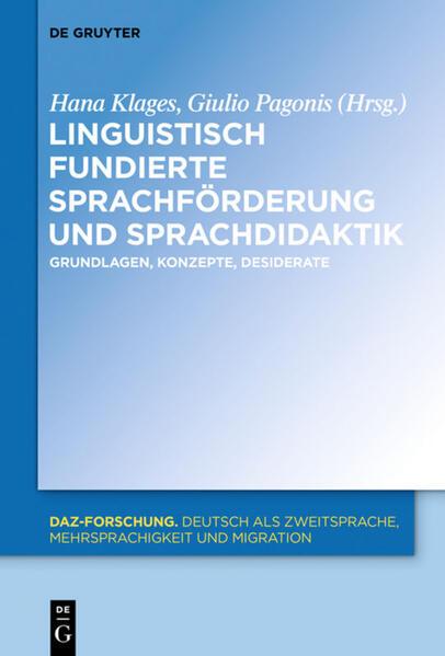 Linguistisch fundierte Sprachförderung und Sprachdidaktik - Coverbild
