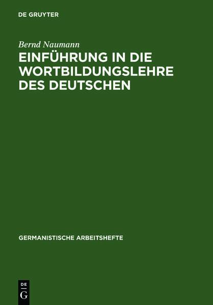 Einführung in die Wortbildungslehre des Deutschen - Coverbild
