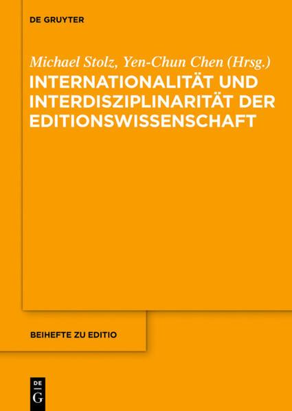 Internationalität und Interdisziplinarität der Editionswissenschaft - Coverbild
