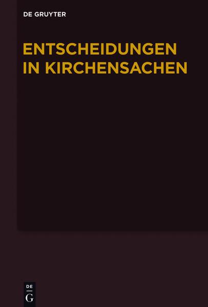 Entscheidungen in Kirchensachen seit 1946 / 1.7.-31.12.2011 - Coverbild