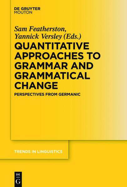 Quantitative Approaches to Grammar and Grammatical Change - Coverbild
